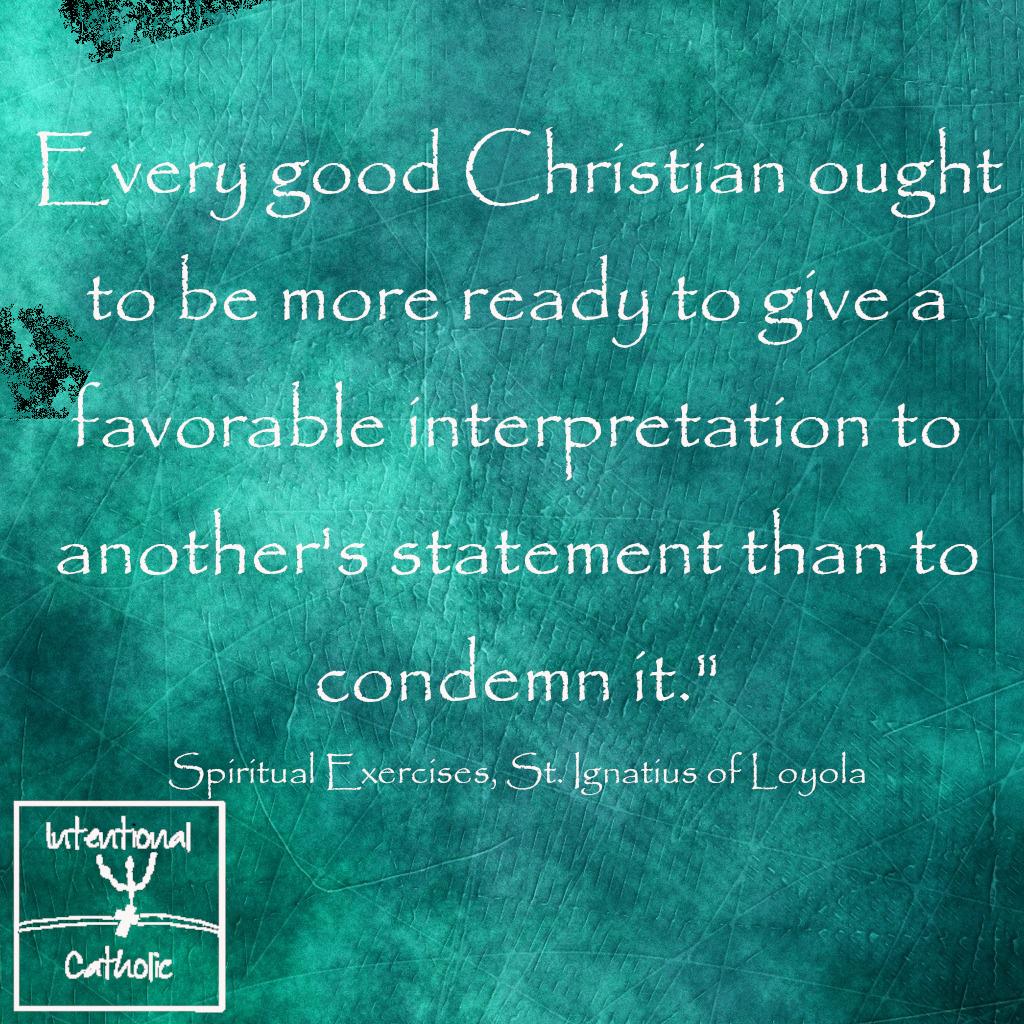 Ignatius-favorable interpretation